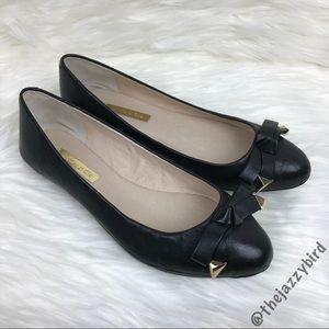 Louise et Cie Azalya Black Leather Mini Wedge Flat